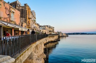 The old town of Siracusa is actually an island called Ortigia