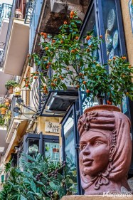 Taormina is known for its colourful Maiolica ceramics and Saracen heads