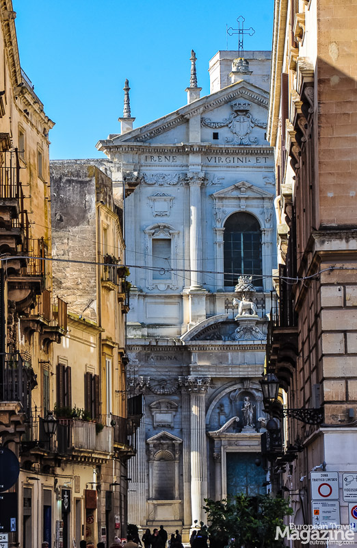 You encounter Chiesa di Santa Irene on your way to the Cathedral