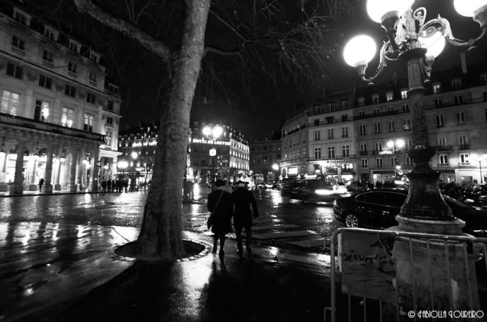 Rainy night around Louvre Hotel
