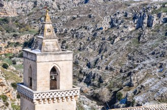The Sassi of Matera overlooks the gravine