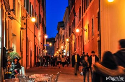 The pedestrian shopping street Corso G. Mazzini