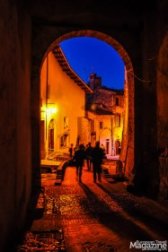 Continue downhill through the charming cobblestone alleys of Via Minervio, Via Salara Vecchia and Via Porta Fuga