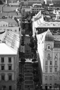 Looking down from St Stephen's Basilica