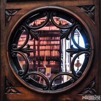 After disposing of your bag in the cloakroom you can enter the imposing Baroque library