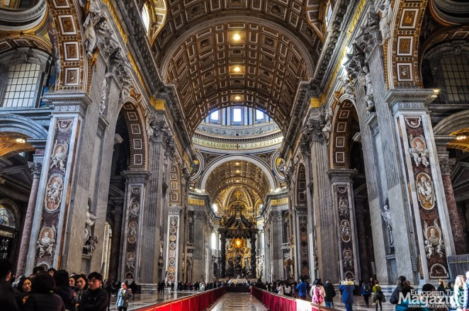 Built on the tomb of St. Peter, the Basilica was erected around the year 320 by Emperor Constantine
