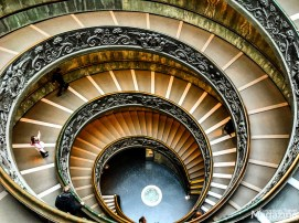 The modern double helix staircase was designed by Giuseppe Momo in 1932