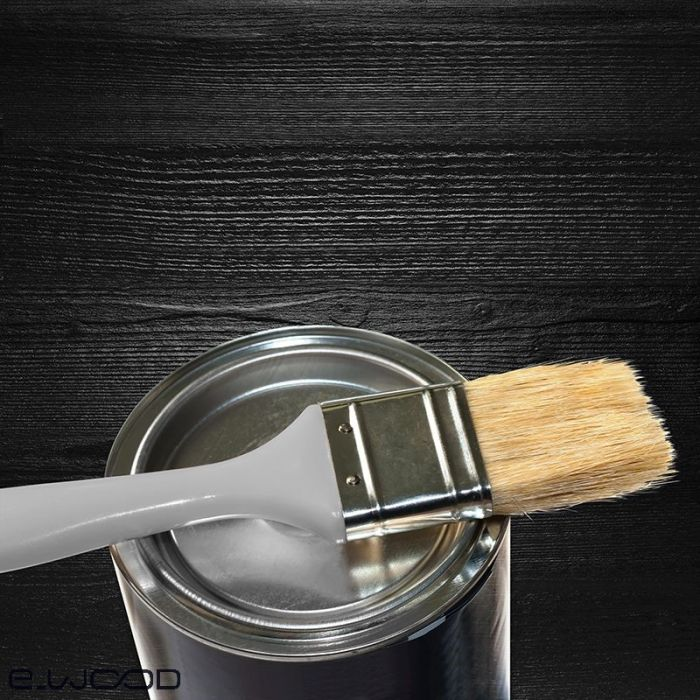 peinture de retouche pour bardage bois noir onyx pot 1 kg
