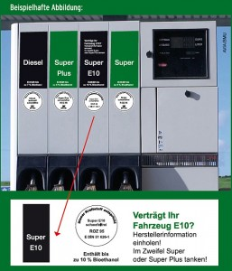 Was ist E10 Benzin - Kennzeichnung an Tankstellen