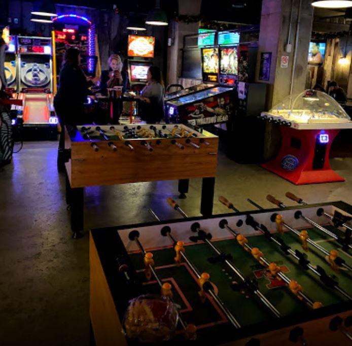 Game Room fooseball, and arcade games