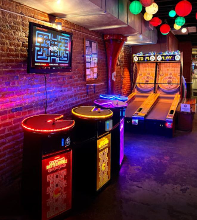 Pacman and Skee-ball in bar