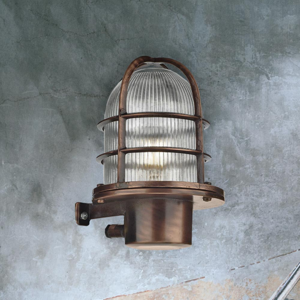 antique copper outdoor wall light cl 30205 e2 contract lighting uk