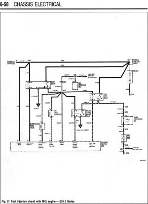M42 Starter  Fuel Injection Wiring Diagrams
