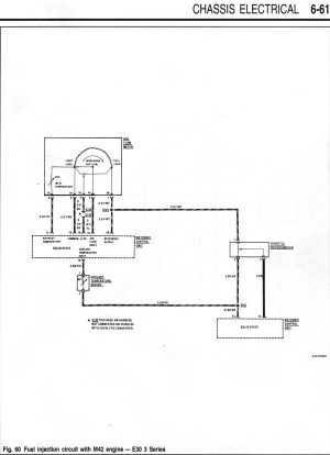 M42 Starter  Fuel Injection Wiring Diagrams