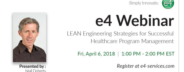e4 Webinar LEAN Engineering Strategies 2018