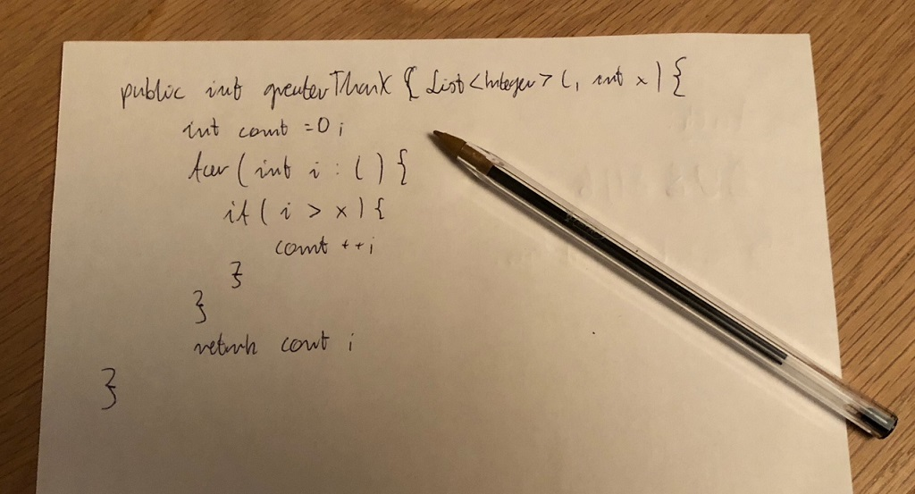 "Tips for ""whiteboard"" and ""paper"" coding interviews"