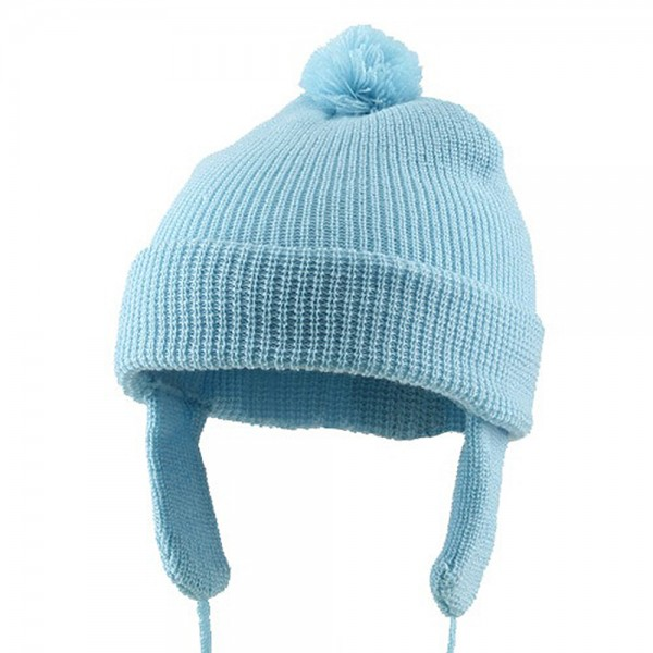 Toddler Beanie Hat with Ear Flaps - Blue