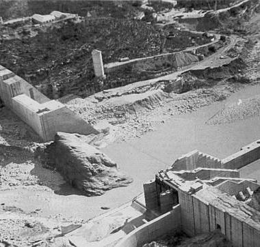 La presa de Tous tras el suceso de la Pantanà