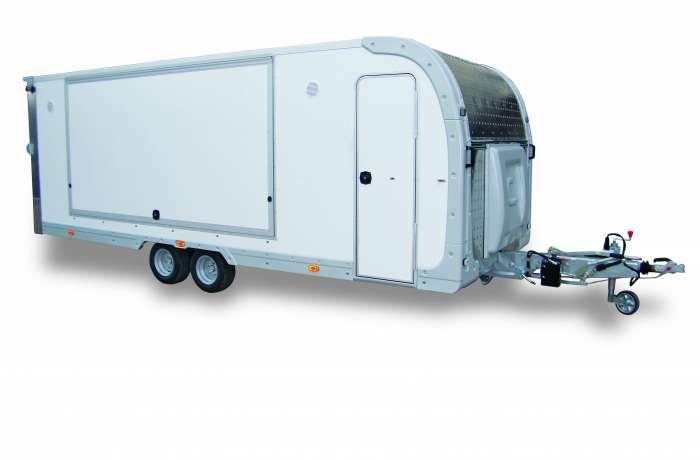 Rimorchio PAF25XL Cresci, ideale per mercati, food truck
