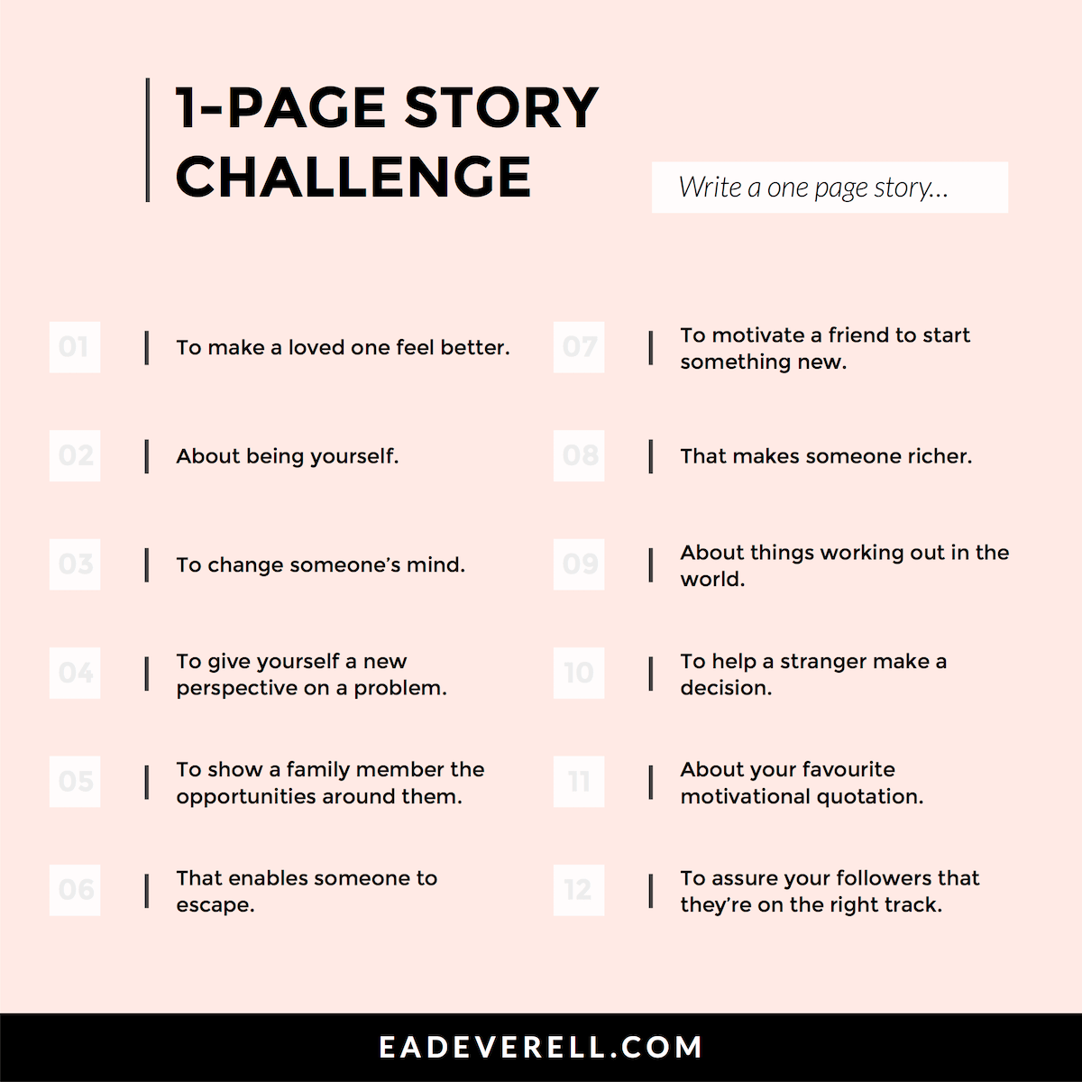 One Page Stories