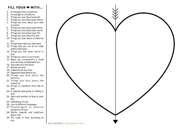 Fill Your Heart Worksheet