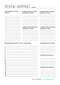 Writing Worksheet Wednesday: Scene Writing