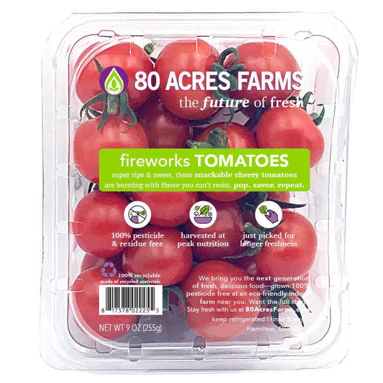 80 Acres Farms fireworks tomatoes vegetable