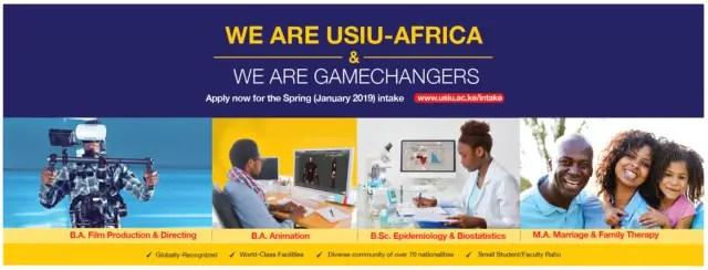 United States International University, USIU Admission Requirements: 2019/2020