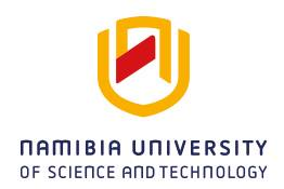 Namibia University of Science and Technology, NUST Fee