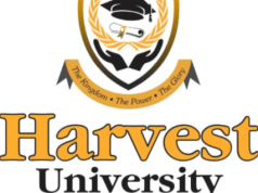 Harvest University Zambia Admission list: 2019/2020 Intake