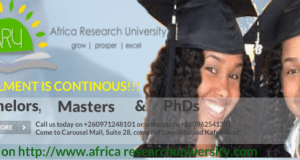 Africa Research University, ARU Admission Requirements: 2019/2020