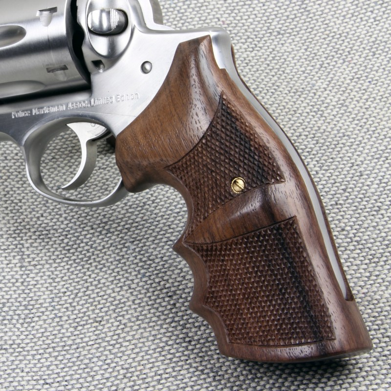 Ruger Redhawk Rosewood Checkered Combat Grips
