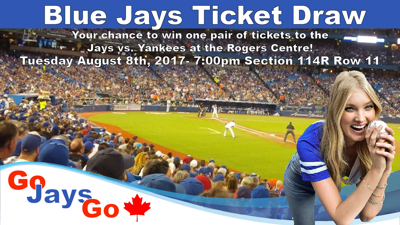 Water survey ticket draw - Toronto Blue Jays