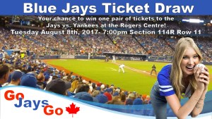 Blue jays ticket draw water survey draw!