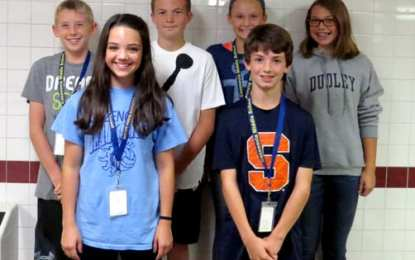 Middle school student leaders announced