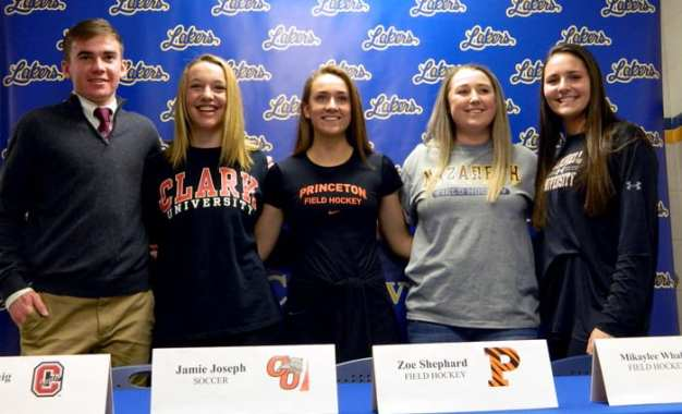 Five Caz student athletes announce college intentions