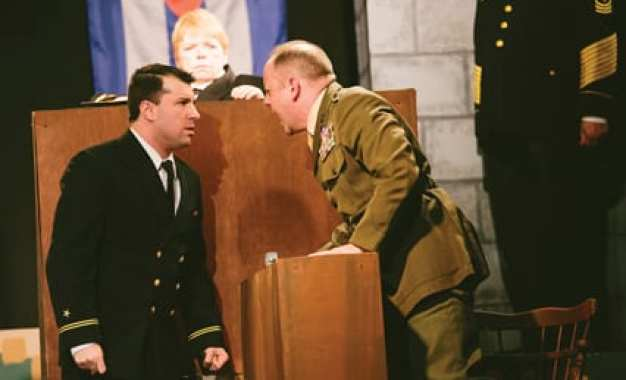 THEATER REVIEW: 'Code Red' exposed – Jordan Glaski shines as a reluctant defense attorney in 'A Few Good Men'