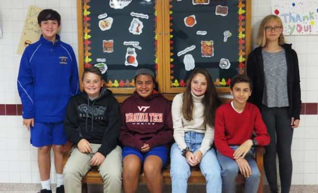 Middle school student leaders named