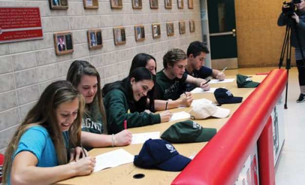Six J-DHS student athletes commit to college teams