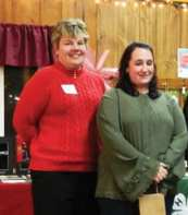Dakota Kelsey and Jenny Mills were both honored with the Madison County 4-H Leader of the Year Award during the Dec. 4 CCE-MC annual meeting. (photo by Jason Emerson)