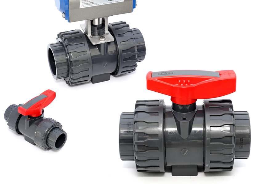 Plastic Double Union Ball Valve