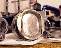 JE Pistons with oxidation