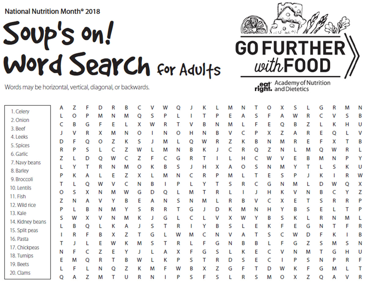 Soup S On Word Search