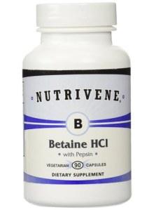 Nutrivene Betaine HCL with Pepsin