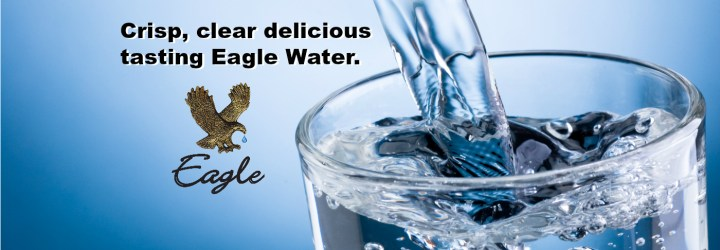 Crisp, clear delicious tasting Eagle water