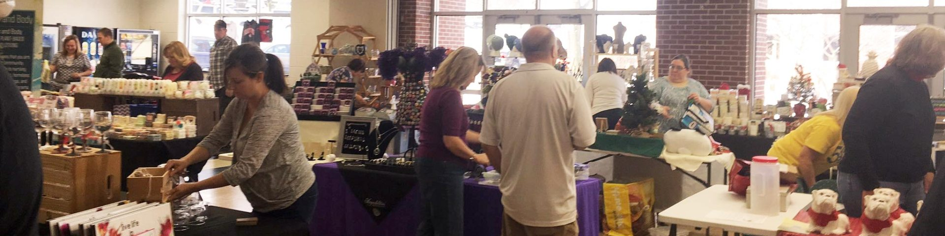 Patrons at craft fair