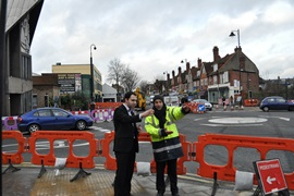 Bassam visits Church Road roundabout works
