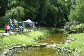 Residents enjoy activities at the reopening of Conolly Dell.