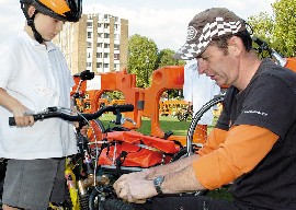 Maintenance session for bikes