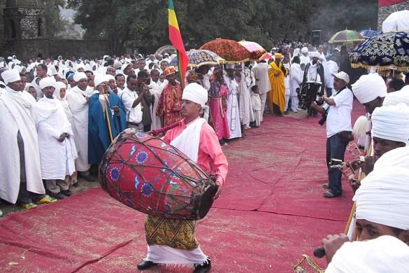 Timkat-Epifania ortodossa-cerimonia del Timkat-Castello Fasiladas-Gondar-Etiopia-Ethiopia